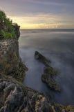 Por do sol bonito em Gunungkidul, Yogyakarta, Indonésia Foto de Stock Royalty Free