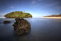 Por do sol bonito em Gunungkidul, Yogyakarta, Indonésia Fotos de Stock