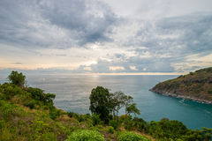 por do sol bonito em phuket Tailândia Imagens de Stock
