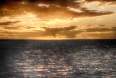 Por do sol bonito em St Lucia Imagens de Stock