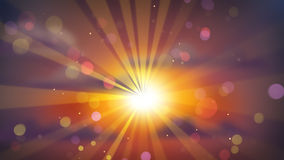 Por do sol bonito fora de foco Fotografia de Stock Royalty Free