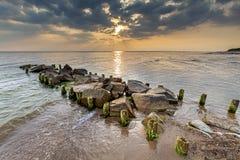 Por do sol bonito, fundo da natureza do verão fotografia de stock royalty free
