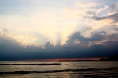 Por do sol bonito, Galle, Sri Lanka imagens de stock