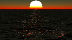 Por do sol bonito na praia filme