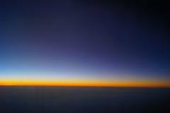 Por do sol bonito no céu Imagem de Stock Royalty Free