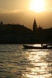 Por do sol bonito sobre Veneza imagem de stock
