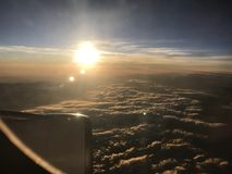 Por do sol do céu Imagens de Stock