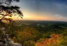 Por do sol cênico na montanha de Sawnee Foto de Stock