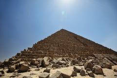 Por do sol do Cairo foto de stock