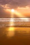 Por do sol calmo Imagens de Stock