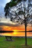 Por do sol calmo Imagem de Stock Royalty Free
