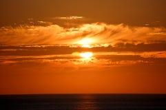 Por do sol calmo Foto de Stock