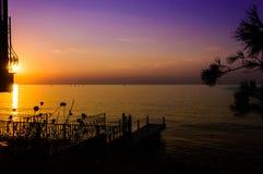 Por do sol calmo do verão Fotografia de Stock