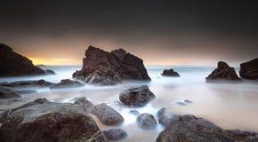 Por do sol carregado com mau tempo Foto de Stock Royalty Free