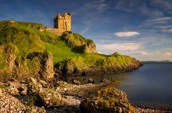 Por do sol do castelo de Gylen Foto de Stock Royalty Free