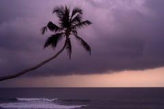 Por do sol chuvoso Imagem de Stock