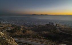 Por do sol, cidade de Elazig - Turquia Imagens de Stock Royalty Free