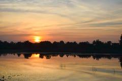 Por do sol claro Foto de Stock