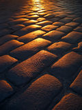 Por do sol Cobbled Fotografia de Stock Royalty Free