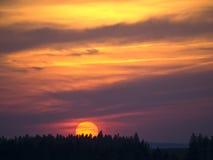 Por do sol colorido Foto de Stock Royalty Free