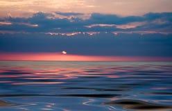 Por do sol colorido Imagem de Stock Royalty Free