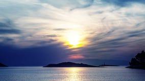 Por do sol colorido do mar filme