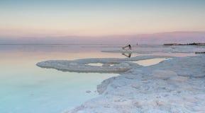 Por do sol colorido do Mar Morto Fotos de Stock
