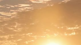 Por do sol colorido no campo, por do sol bonito no selvagem video estoque