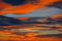 Por do sol colorido no Oceano Índico Fotos de Stock