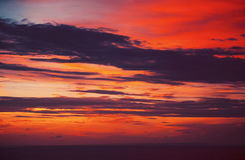 Por do sol colorido no Oceano Índico Imagens de Stock Royalty Free