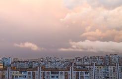 Por do sol com nuvens Imagem de Stock Royalty Free