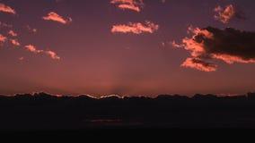 Por do sol cor-de-rosa foto de stock