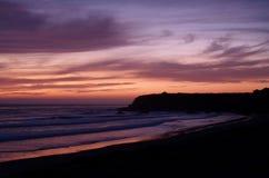 Por do sol cor-de-rosa Fotografia de Stock