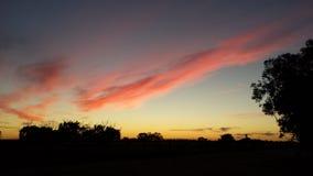 Por do sol cor-de-rosa do algodão doce Fotografia de Stock Royalty Free