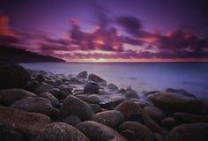 Por do sol Cornish Fotos de Stock Royalty Free