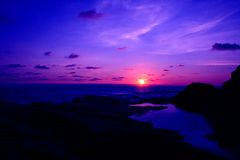 Por do sol Cornish Imagens de Stock