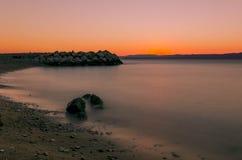 Por do sol croata Foto de Stock Royalty Free