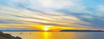 Por do sol croata - Makarska Imagem de Stock