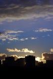 Por do sol da arquitectura da cidade Foto de Stock Royalty Free