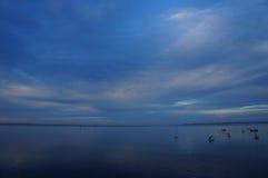 Por do sol da baía de Corio Imagens de Stock Royalty Free