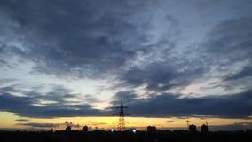 Por do sol da cidade Foto de Stock