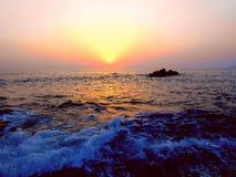 Por do sol da cor, vista exótica Imagem de Stock Royalty Free