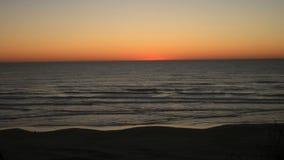 Por do sol da costa de Oregon Fotos de Stock