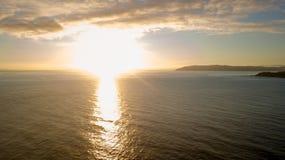 Por do sol da costa de Wainuiomata Imagens de Stock Royalty Free