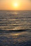 Por do sol da Costa do Pacífico Fotografia de Stock