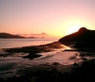 Por do sol da ilha Imagem de Stock Royalty Free