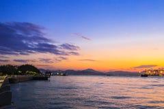 Por do sol da ilhota de Gulangyu Fotos de Stock