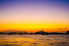 Por do sol da ilhota de Gulangyu Imagem de Stock Royalty Free