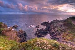 Por do sol da mágica de Brittany Fotografia de Stock