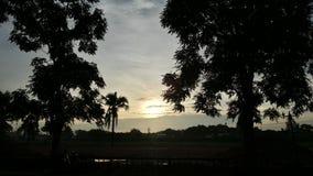 por do sol da manhã Fotos de Stock Royalty Free